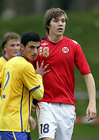 Fotball<br /> Landskamp G15<br /> Sverige v Norge 0:3<br /> Arvika<br /> 23.09.2010<br /> Foto: Morten Olsen, Digitalsport<br /> <br /> Carl-Henrik Refvik  -  Vidar