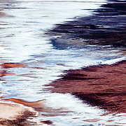 Abstract colors and palatte of Dante's View overlooking salt flats of Badwater.