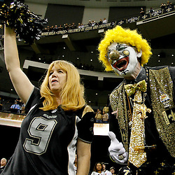 November 6, 2011; New Orleans, LA, USA; New Orleans Saints fans celebrate in the stands following a win over the Tampa Bay Buccaneers at the Mercedes-Benz Superdome. The Saints defeated the Buccaneers 27-16. Mandatory Credit: Derick E. Hingle-US PRESSWIRE