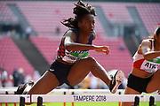 Cyrena Samba-Mayela (FRA) competes in 100 Metres Hurdles Women during the IAAF World U20 Championships 2018 at Tampere in Finland, Day 4, on July 13, 2018 - Photo Julien Crosnier / KMSP / ProSportsImages / DPPI