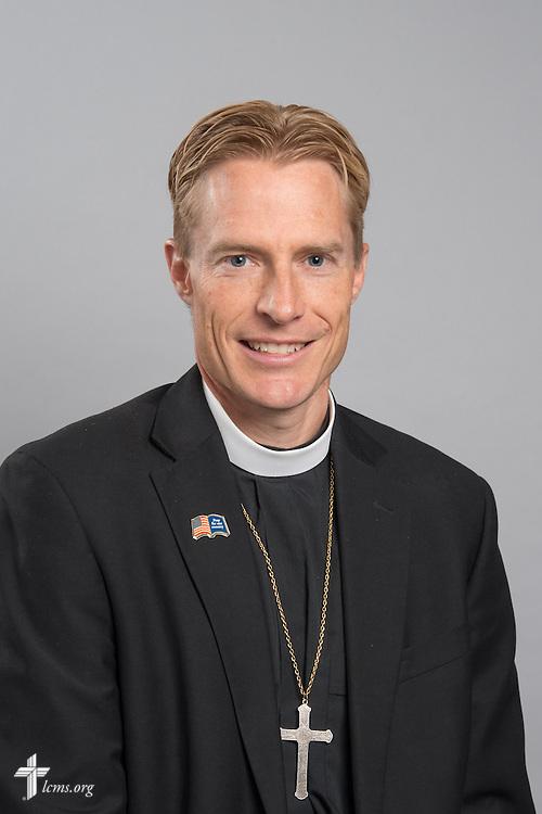 Headshot photograph of the Rev. Tim Droegemueller on Monday, June 1, 2015, at the International Center of The Lutheran Church–Missouri Synod in Kirkwood, Mo. LCMS Communications/Frank Kohn