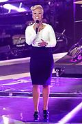 Emeli Sand&Egrave; trijdens een optreden van de tweede live show van The Voice of Holland.<br /> <br /> op de foto: Emeli Sande