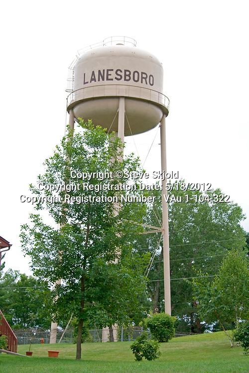 Water tower gravity holding tank. Lanesboro Minnesota MN USA