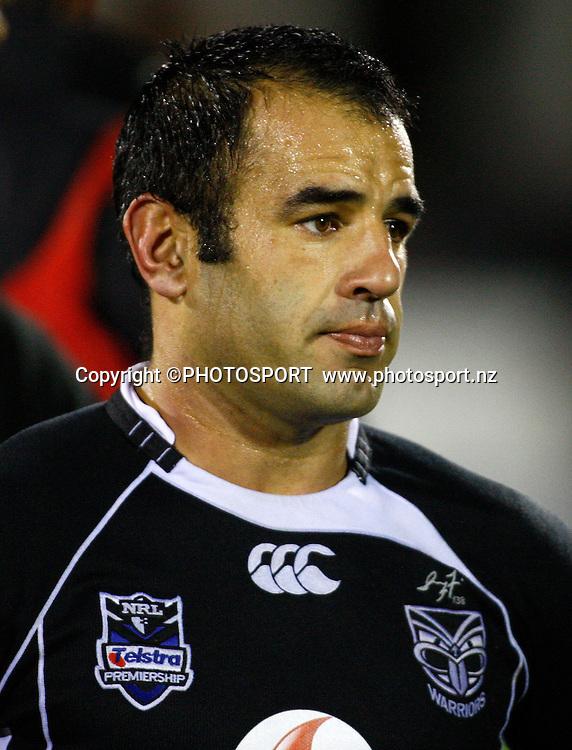 Dejected Warrior Stacey Jones. NRL. Vodafone Warriors v Canterbury Bulldogs, Mt Smart Stadium, Auckland, New Zealand. Sunday 12 July 2009. Photo: Simon Watts/PHOTOSPORT<br /> Editorial Use Only