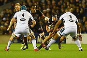 Stuart McInally on the ball during the Guinness Pro 14 2017_18 match between Edinburgh Rugby and Glasgow Warriors at Murrayfield, Edinburgh, Scotland on 23 December 2017. Photo by Kevin Murray.