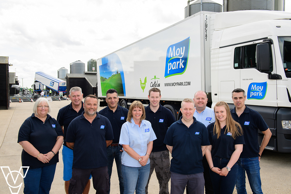 As part of Open Farm Sunday, May Park's Barr Farm in Billinghay, Lincolnshire, was open to the public.  Pictured is some of the May Park team, from left, Sharon Houghton, David Harkin, farm manager Darren Wright, Mohammed Maliki, agricultural planning manager GB Katie Baxter, Alex Lambert, Charlie Harrison, Paul Asman, Siobhan Waterson and Kevin Stebbings.<br /> <br /> PIcture: Chris Vaughan Photography<br /> Date: May 21, 2017
