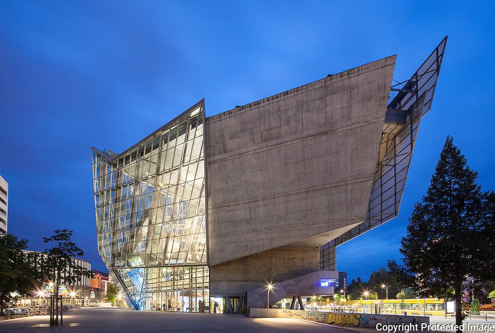 UFA Cinema Center, Dresden, Germany. Architect. Coop Himmelb(l)au. Built,1998.
