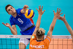 28-05-2017 NED: 2018 FIVB Volleyball World Championship qualification day 5, Apeldoorn<br /> Nederland - Slowakije / Peter Mlynarcik #9