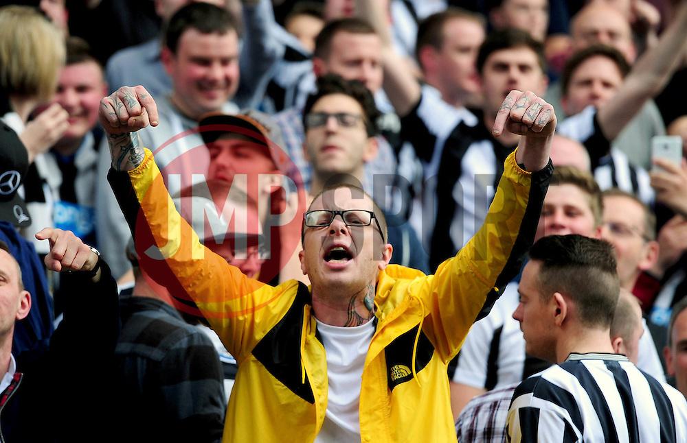 Newcastle United fan - Mandatory by-line: Dougie Allward/JMP - 07/05/2016 - FOOTBALL - Villa Park - Birmingham, England - Aston Villa v Newcastle United - Barclays Premier League