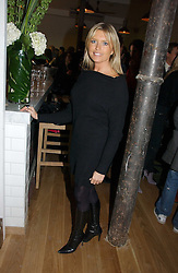 Actress TINA HOBLEY at the opening party for Tom's Kitchen - the restaurant of Tom Aikens at 27 Cale Street, London SW3 on 1st November 2006.<br />