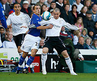 Photo: Steve Bond.<br /> Derby County v Everton. The FA Barclays Premiership. 28/10/2007. Kenny Miller (R) tussles with Leon Osman (R)