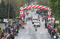 At Shooters Hill RoadMen's Race  at  one  mile point . The Virgin Money London Marathon, Sunday 26th April 2015.<br /> <br /> Photo: Dave Shopland for Virgin Money London Marathon<br /> <br /> For more information please contact Penny Dain at pennyd@london-marathon.co.uk