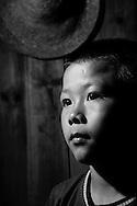 Kaili, Guizhou, China, August 10th 2007: Portrait of an 11 year old Miao boy..Photo: Joseph Feil