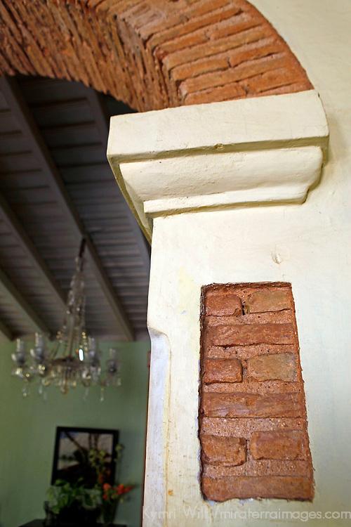 Central America, Cuba, Trinidad. Architectural brick arch in Sol Ananda in Trinidad, Cuba.
