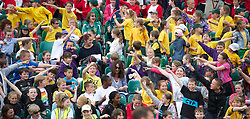 LIVERPOOL, ENGLAND - Wednesday, June 20, 2012: School children during a kids' day at the Medicash Liverpool International Tennis Tournament at Calderstones Park. (Pic by David Rawcliffe/Propaganda)