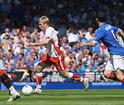 Scott Arfield runs at the Rangers defence during the Homecoming Scottish FA Cup Final between Falkirk and Rangers at Hampden Park (picture by David Young - 07765 252616)