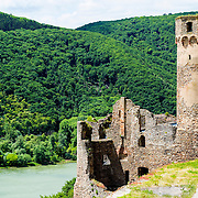 Ruined Castle Ehrenfels Rudesheim Hesse Germany Europe