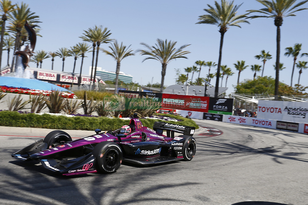 April 13, 2018 - Long Beach, California, United States of America - April 13, 2018 - Long Beach, California, USA: Jack Harvey (60) takes to the track to practice for the Toyota Grand Prix of Long Beach at Streets of Long Beach in Long Beach, California. (Credit Image: © Justin R. Noe Asp Inc/ASP via ZUMA Wire)