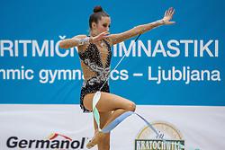 Jerman Aja of Slovenia competes during 29th MTM - International tournament in rhythmic gymnastics Ljubljana, on March 12, 2016 in gymnastics center Ljubljana, Ljubljana, Slovenia.  Photo by Grega Valancic / Sportida