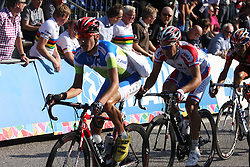 Janez Brajkovic (Slovenia) during the Men's Elite Road Race at the UCI Road World Championships on September 25, 2011 in Copenhagen, Denmark. (Photo by Marjan Kelner / Sportida Photo Agency)