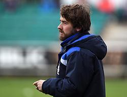 Media person Tom Vaux  - Mandatory byline: Joe Meredith/JMP - 07966386802 - 24/10/2015 - RUGBY - The Mennaye Field -Penzance,England - Cornish Pirates v Bristol Rugby - Greene King IPA Championship