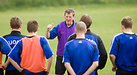 Finnish national team head coach Roy Hodgson at a training session. Limassol, Cyprus, February 27, 2006.