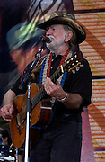 September 7, 2003; WILLIE NELSON with TRICK PONY performing at Farm Aid, 2003, in Columbus, Ohio. Photo by Bryan Rinnert/3Sight Photography