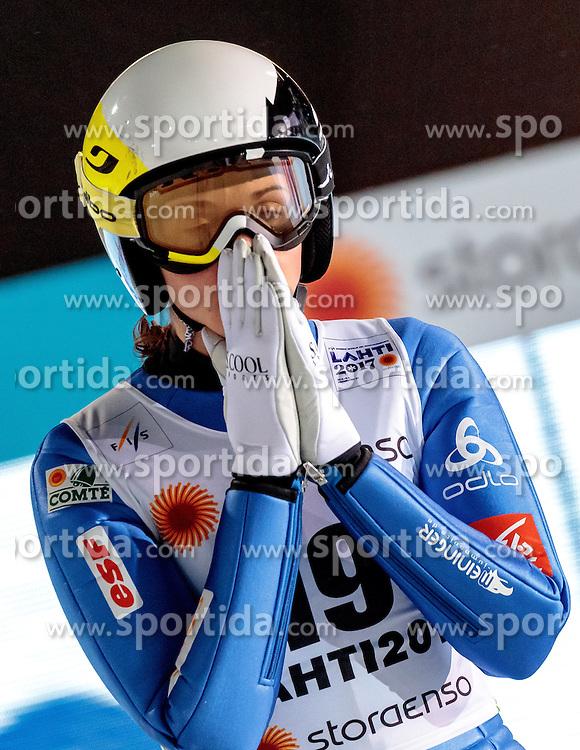 24.02.2017, Lahti, FIN, FIS Weltmeisterschaften Ski Nordisch, Lahti 2017, Damen Skisprung, im Bild Lea Lemare (FRA) // Lea Lemare of France during Ladies Skijumping Competition of FIS Nordic Ski World Championships 2017. Lahti, Finland on 2017/02/24. EXPA Pictures © 2017, PhotoCredit: EXPA/ JFK