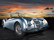 XK120 JAG Sunset Florida