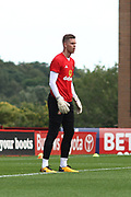 Sunderland goalkeeper Jason Steele (1)in the warm up during the EFL Sky Bet Championship match between Barnsley and Sunderland at Oakwell, Barnsley, England on 26 August 2017. Photo by Justin Parker.