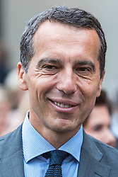 28.07.2016, Residenzplatz, Salzburg, AUT, Salzburger Festspiele, Eroeffnungsakt, im Bild Bundeskanzler Christian Kern (SPOe) // Federal chancellor Christian Kern (SPOe) during the Opening Ceremony of the Salzburg Festival, it takes place from 22 July to 31 August 2016, at the Residenzplatz in Salzburg, Austria on 2016/07/28. EXPA Pictures © 2016, PhotoCredit: EXPA/ JFK