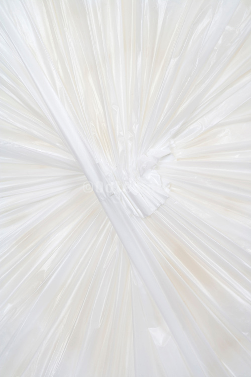 underside of a white plastic bag