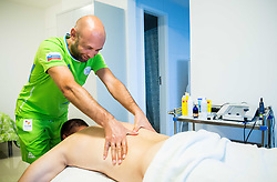 Dejan Fabcic of Slovenia having a physiotherapy session with physiotherapist Matej Kovac in the Paralympic Village 3 days ahead of the Rio 2016 Summer Paralympics Games on September 4, 2016 in Rio de Janeiro, Brazil. Photo by Vid Ponikvar / Sportida
