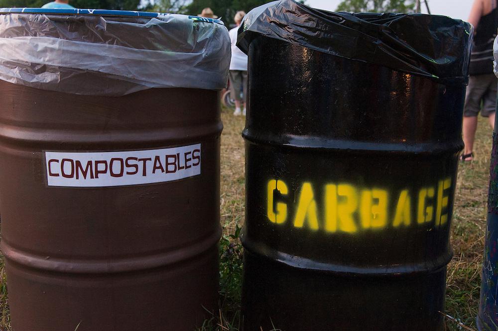 Michigan's Blissfest music festival food and vendor area.