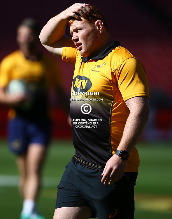 Steven Kitshoff of South Africa during the South African - Springbok Captain's Run at Emirates Airline Park,<br /> Johannesburg .South Africa. 08,06,2018 Photo by (Steve Haag Sports)