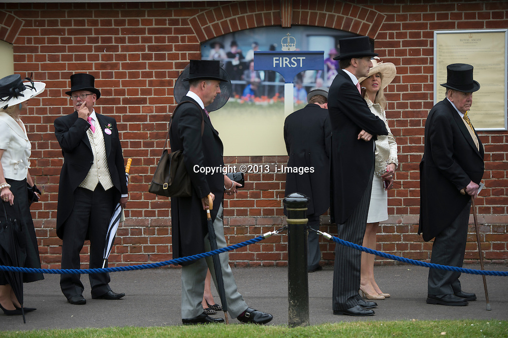 Punters queueing at Royal Ascot 2013, Ascot, United Kingdom,<br /> Thursday, 20th June 2013<br /> Picture by i-Images