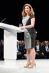 © Licensed to London News Pictures . 30/09/2013 . Manchester , UK . KARREN BRADY , vice-chairman of West Ham United , addresses the conference ahead of the Chancellor's speech , this afternoon (Monday 30th September 2013) . Day 2 of the Conservative Party Conference 2013 at Manchester Central . Photo credit : Joel Goodman/LNP