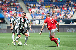 July 28, 2018 - Harrison, New Jersey, United States - Juventus forward FEDERICO BERNARDESCHI (33) dribbles the ball against SL Benfica midfielder LJUBOMIR FEJSA (5) during the International Champions Cup at Red Bull Arena in Harrison, NJ.  Juventes vs Benfica (Credit Image: © Mark Smith via ZUMA Wire)