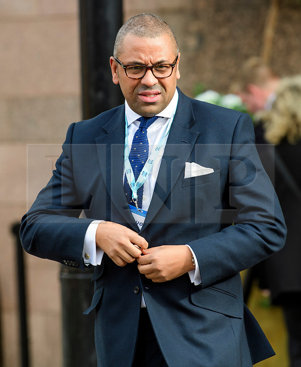 © Licensed to London News Pictures. 04/10/2017. Manchester, UK. MP James Cleverly at Conservative Party Conference. The four day event is expected to focus heavily on Brexit, with the British prime minister hoping to dampen rumours of a leadership challenge. Photo credit: Ben Cawthra/LNP