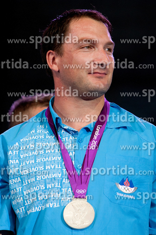 Primoz Kozmus during reception of Slovenian Olympic Team at Kongresni Trg when they came back from London after Summer Olympic games 2012, on August 14, 2012 in Center of Ljubljana, Slovenia (Photo by Urban Urbanc / Sportida.com)