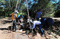 Drilling a water well in Yapiroa, Charagua, Santa Cruz, Bolivia