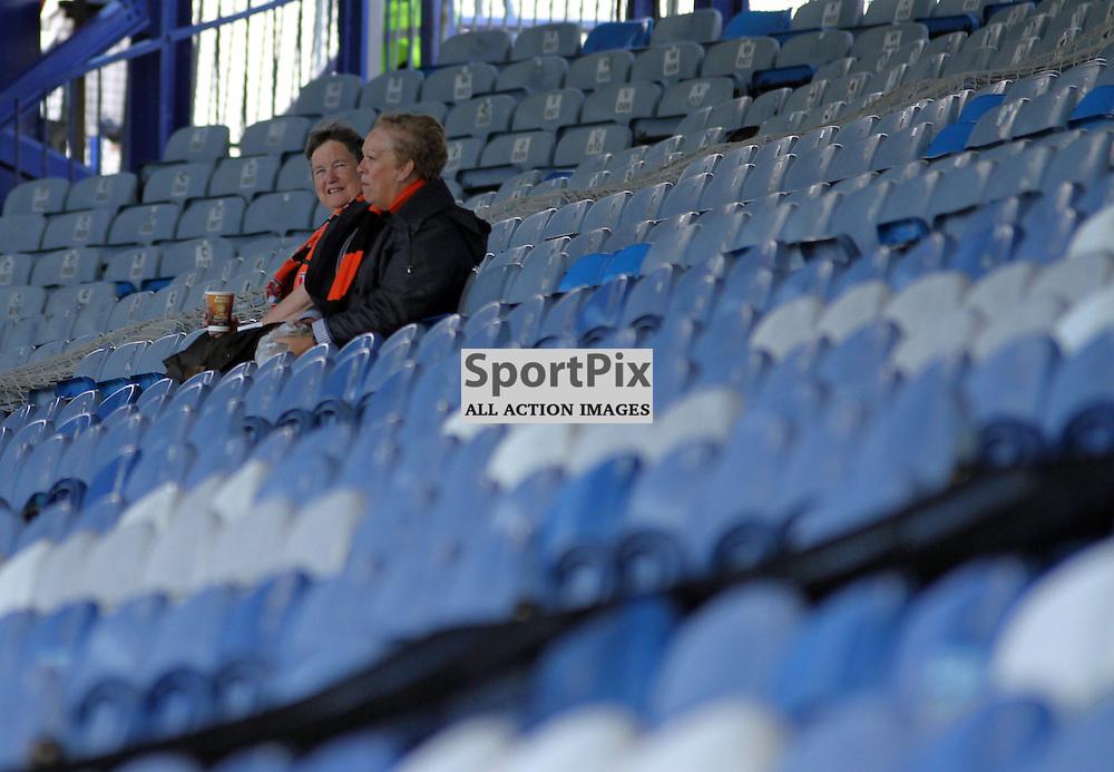 Barnet Fans wait for kick off before Portsmouth vs Barnet on Saturday 12th September 2015.