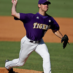 06 June 2009:  LSU pitcher, Louis Coleman (29) throws during a 5-3 victory by the LSU Tigers over the Rice Owls in game two of the NCAA baseball College World Series, Super Regional played at Alex Box Stadium in Baton Rouge, Louisiana. The Tigers with the win advance to next week's College Baseball World Series in Omaha, Nebraska.