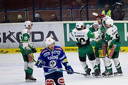 20.11.2012, Eishalle Villach, Ljubljana, AUT, EBEL, EC VSV vs HDD Telemach Olimpija Ljubljana, 23. Runde, in picture Jan Mursak (HDD Telemach Olimpija, #39) celebrates after scoring a goal during the Erste Bank Icehockey League 23rd Round match between EC VSV and HDD Telemach Olimpija Ljubljana at the Eishalle Villach, Villach, Austria on 2012/11/20. (Photo By Matic Klansek Velej / Sportida)