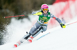 "Josephine Forni (FRA) in action during 1st Run of the FIS Alpine Ski World Cup 2017/18 7th Ladies' Slalom race named ""Golden Fox 2018"", on January 7, 2018 in Podkoren, Kranjska Gora, Slovenia. Photo by Ziga Zupan / Sportida"