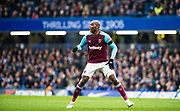 West Ham  (21) Angelo Ogbonna  during the Premier League match between Chelsea and West Ham United at Stamford Bridge, London, England on 8 April 2018. Picture by Sebastian Frej.