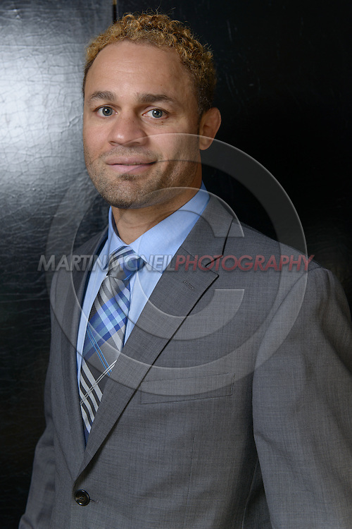 "LONDON, ENGLAND, APRIL 18, 2016: Josh Koscheck poses for a portrait following the event announcement press conference for ""Bellator 158: Slice vs. Thompson"" inside the Four Seasons Hotel in Park Lane, London (© Martin McNeil)"