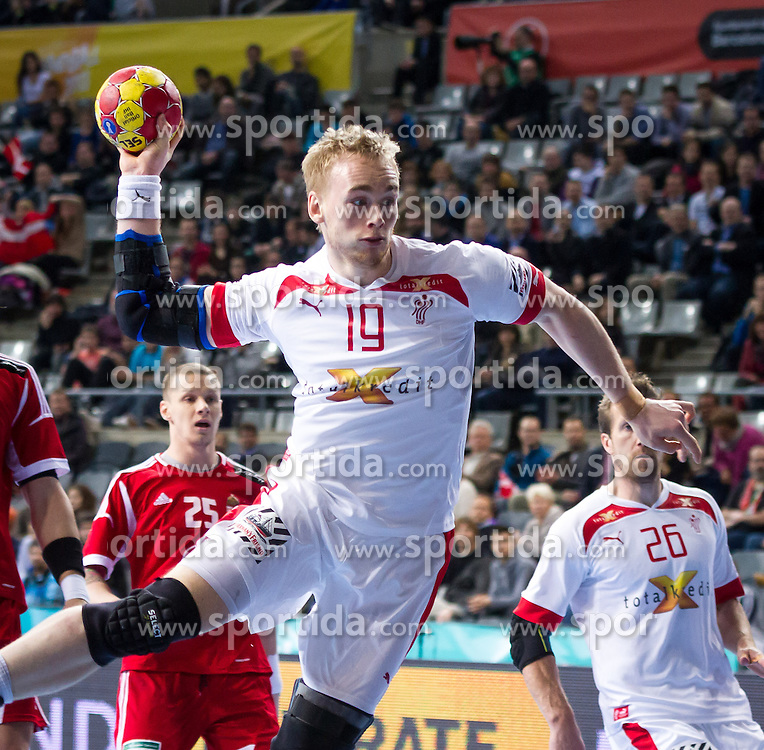 23.01.2013, Palau Sant Jordi, Barcelona, ESP, IHF, Handball Weltmeisterschaft der Herren, Viertelfinale, Daenemark vs Ungarn, im Bild Rene Toft (DEN)// Rene Toft of Denmark during the Quaterfinal match of the IHF Handball World Championship between Denmark and Hungary at the Palau Sant Jordi, Barcelona, Spain on 2013/01/23. EXPA Pictures © 2013, PhotoCredit: EXPA/ Sebastian Pucher
