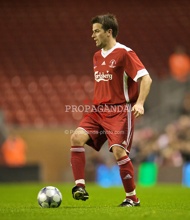 LIVERPOOL, ENGLAND - Thursday, May 14, 2009: Liverpool Legends' Gethin Jones during the Hillsborough Memorial Charity Game at Anfield. (Photo by David Rawcliffe/Propaganda)
