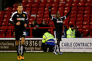 Watford forward Odion Ighalo scores for Watford  during the The FA Cup fourth round match between Nottingham Forest and Watford at the City Ground, Nottingham, England on 30 January 2016. Photo by Simon Davies.
